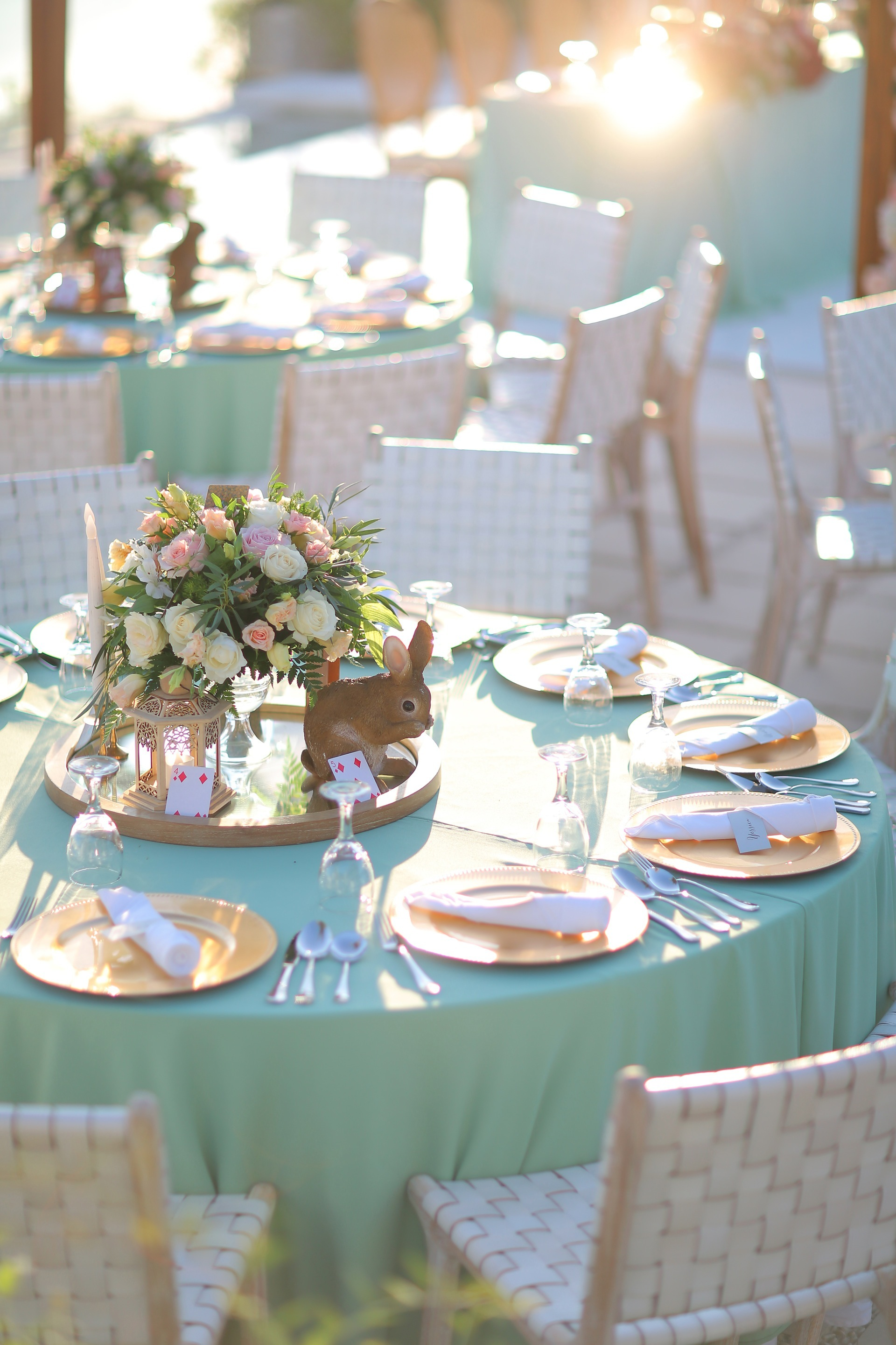 Sweet Rustic Wedding with a Hint of Alice in Wonderland